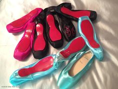 Pretty! - Dita Von Teese's custom made Louboutin ballet shoes from Paris