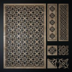 model decorative laser cutting pattern - Alev Uzun - Welcome to the World of Decor! Laser Cut Screens, Laser Cut Panels, Cnc Cutting Design, Laser Cutting, Screen Design, Gate Design, Jaali Design, Decorative Screen Panels, Grill Door Design
