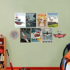 Disney Planes Vintage Poster Collection Wall Decal Muursticker bij AllPosters.nl