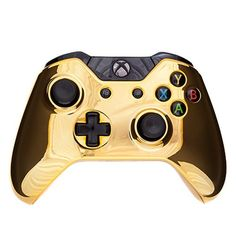 A stunning design brought to you by Roller Controllers. Chrome Gold custom controller with improved thumb grips & original buttons! Comes