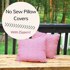 No Sew Pillow Cover with Zipper with Guidecentral.