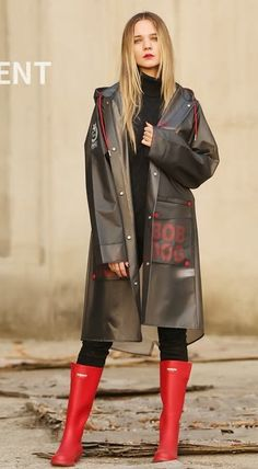 Vinyl Raincoat, Pvc Raincoat, Plastic Raincoat, Rain Coats, Rain Wear, Capes, Winter Jackets, Drawings, Boots