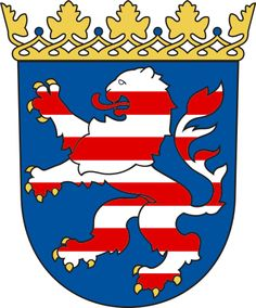 Coat of Arms of Hessen in Germany.  My father was born in Stangenrod, a Hessian town.
