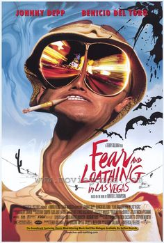 Fear and Loating in Las Vegas (1998)  Hunter S. Thompson's cult memoir becomes a movie. The funky artwork on this poster goes great with the movie itself