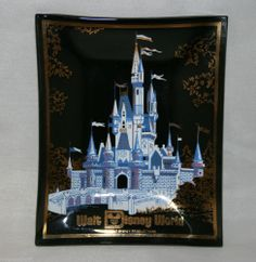 Vintage Walt #Disney World Cinderella Castle Souvenir Ashtray @MagnumVintage&Thrift