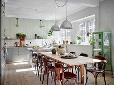A Scandinavian kitchen with a touch of green - Roomed