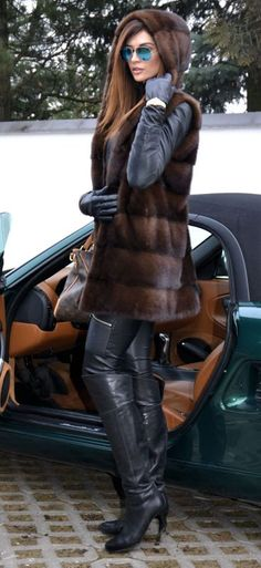 Mink fur hoody, of course better buying Faux fur instead  (artificial fur, cruelty free)