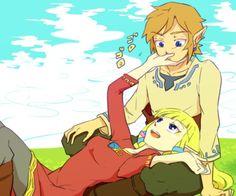 Zelda x Link by 318
