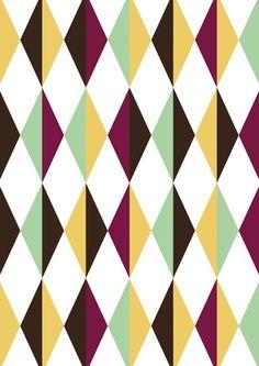 Behang 006 met grafisch patroon | Vliesbehang | 146,1 x 280 cm