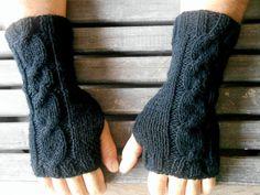 Men Gloves, Knit Mittens, Fingerless gloves, Black Gloves,Handmade, Gloves,Crochet,Hand Warmer,Short Knitted Gloves,Winter Gloves,Gift Ideas