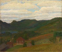 Thorvald Erichsen, Landskap med gammel gård. 1897