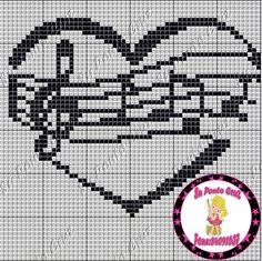 Cross Stitch Music, Cross Stitch Heart, Simple Cross Stitch, Cross Stitching, Cross Stitch Embroidery, Embroidery Patterns, Everything Cross Stitch, Graph Paper Art, Easy Cross Stitch Patterns
