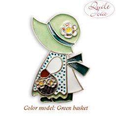 Sunbonnet Sue enamel silver pendant handmade by by Quiltjoia, €80.00