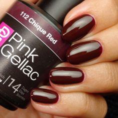 Pink Gellac 112 Chique Red Gel-Nagellack via pinkgellac.de