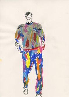 Showstudio_john-booth_paris-fashion-week-illustration