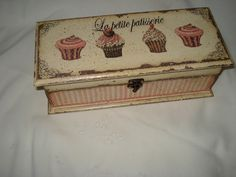 Hand made box decorated in decoupage style. Decoupage Box, Decoupage Vintage, Diy Painting, Painting On Wood, Cigar Box Projects, Creative Box, How To Make Box, Tea Box, Paper Crafts