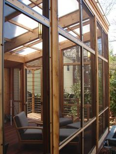 Screened in porch with plexiglass roof/ Google image
