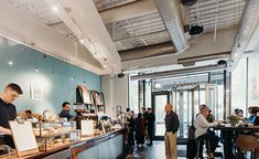 With decor inspired by nearby Millennium Park, enjoy a fresh brew at Intelligentsia's coffeebar located in the heart of Chicago Coffee Shops Austin, Intelligentsia Coffee, Chicago Location, This Is Us, Ceiling Lights, Park, Home, House, Ceiling Light Fixtures