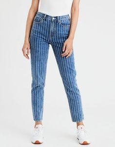 778a5a42b 25 Best Striped Jeans images | Fashion outfits, Stripes, Woman fashion
