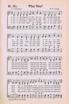 Printable Antique Hymn Page: What Then?