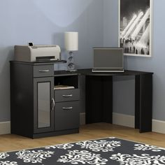 Black Corner Desk Hayneedle
