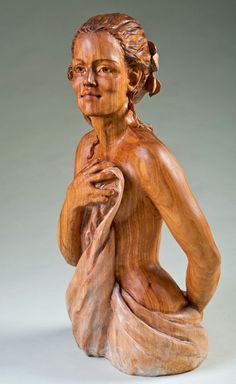 BEAUTIFUL LADY WEARING A TOWEL!(2011) Competition Artistry In Wood  Adina Huckins