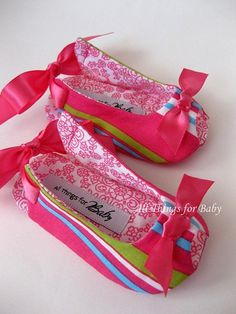 Baby girl shoes pink striped fabric sandals by allthingsforbaby