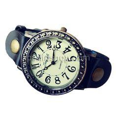 Kuhhaut Armbanduhr, mit Zinklegierung, antike Bronzefarbe plattiert, wasserdicht, schwarz