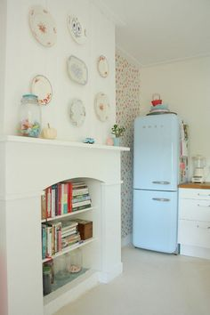 Smeg refrigerators. You have probably seen this Italian-designed fridge with its curvaceous '50s shape gracing kitchens in your favorite shelter mags. It has the vibe of an American fridge from that era, but with simpler, cleaner lines.