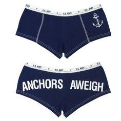 Anchors Away - Military Clothing - Blue Booty Shorts www.fashionbug.us