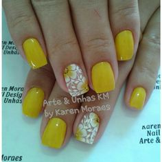Gel Nail Polish, Gel Nails, Cute Nails, Pretty Nails, Spirit Finger, Toe Designs, Dipped Nails, Yellow Nails, Summer Nails
