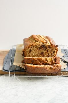Dairy-Free Multigrain Chocolate Chip Banana Bread.