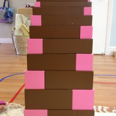 Montessori extension: pink tower and brown stairs