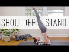 Foundations Of Shoulder Stand, Sarvangasana, The Candle Pose for Beginners! In this Foundations Of Yoga video, Adriene guides a practice of Shoulder Stand for beginners. Though not for everybody, Shoulder Stand is known as the [. Yoga Meditation, Yoga Inspiration, Shoulder Stand Yoga, Yoga Playlist, Free Yoga Videos, Yoga With Adriene, Online Yoga Classes, Bridge Pose, Basic Yoga