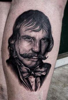 Bill the Butcher portrait by Kris Ford #portrait #blackandgrey #billthebutcher #tattoo #tattoos #ink #inked #tattooartists #art #maryville #knoxville #TN