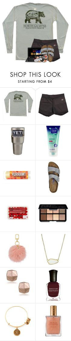 """""""i miss you so insanely much it's insane"""" by theblonde07 ❤ liked on Polyvore featuring Birkenstock, Smashbox, Tory Burch, Kendra Scott, Trina Turk, Deborah Lippmann, Alex and Ani and Estée Lauder"""