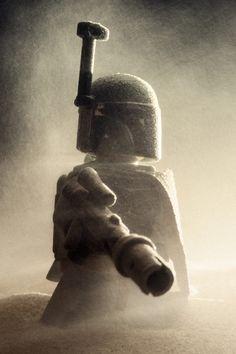 Lego Star Wars... Boba Fett rises from his sandy tomb within the Sarlacc pit. Vesa Lehtimäki/LEGO/Lucasfilm Ltd