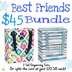 Qualify to add a Tall Organizing Tote for $10 with every $35 you spend January 2017. Join my VIP Facebook Page at https://www.facebook.com/groups/205912619823859  www.mythirtyone.com/brendakrause