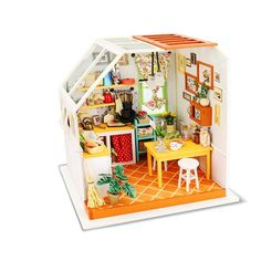 Doll Houses 3d Handmade Theatre Dollhouse Miniature Box Cute Mini Doll House Assemble Kits Gift Toys Unisex Wood Multicolor 8-11 Years High Quality And Low Overhead Toys & Hobbies