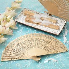 Sandalwood Wedding Favor Fan   #exclusivelyweddings   #beachwedding
