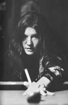 Janis Joplin playing snooker