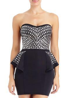 #Stud #Peplum Dress  Get 5% cash back http://www.studentrate.com/vsu/get-vsu-student-deals/2bstores-Student-Discount--/0
