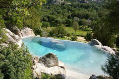 a backyard in Sardinia, Italy