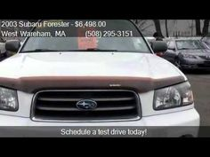 2003 Subaru Forester XS for sale in West Wareham, MA 02576 a