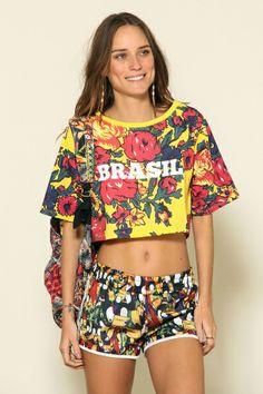 t-shirt cropped silk brasil