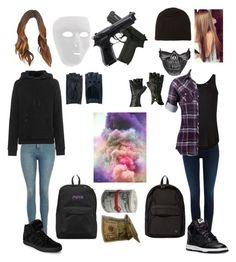 """""""Government Rebels"""" by skatergurl58 ❤ liked on Polyvore featuring Salsa, Topshop, adidas Originals, ATM by Anthony Thomas Melillo, NIKE, adidas, Cash Ca, JanSport, Porter and Zanellato"""