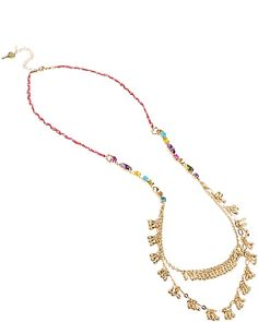 CARNIVAL 2 ROW LONG NECKLACE MULTI accessories jewelry necklaces fashion