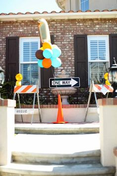 Modern Construction Birthday Party from Kara's Party Ideas