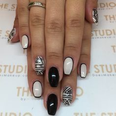 Black Aztec nails By Yana @prepbeautyparlour #thestudiomika