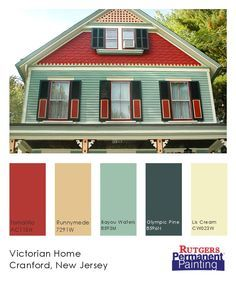 exterior colors for 1960 houses | house colors, paint swatches and